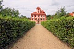 Château romantique de Troja Photographie stock libre de droits
