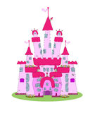 Château rose - vecteur illustration de vecteur