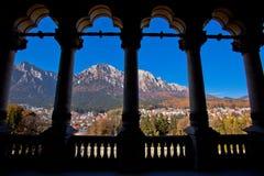 Château Roumanie de Cantacuzino Photos stock