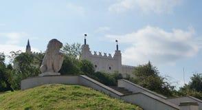 Château royal à Lublin Photos libres de droits
