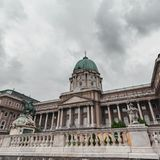 Château royal de Budapest hungary images libres de droits
