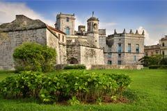 Château royal de force à vieille La Havane Images stock
