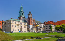 Château royal de Wawel, cathédrale Cracovie (Cracovie) - Pologne Photo stock