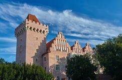 Château royal reconstruit par tour photographie stock