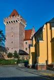Château royal reconstruit par tour images stock