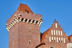 Château royal reconstruit par tour photos stock