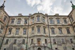 Château ruiné de Pidhirtsi en Ukraine occidentale Image stock