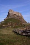 Château saint le Northumberland Angleterre d'île photographie stock libre de droits