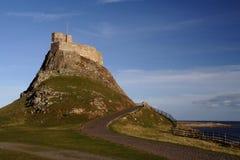 Château saint le Northumberland Angleterre d'île photos libres de droits