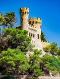 Château Sant Joan à Lloret de Mar Photos libres de droits