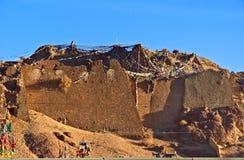 Château scène-abandoné de plateau tibétain Photographie stock