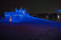 Château Suède de traîneau de glace Photo stock