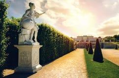 Château supérieur de belvédère à Vienne photographie stock