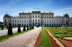 Château supérieur de belvédère, Vienne photographie stock