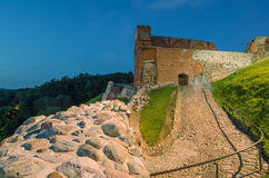 Château supérieur médiéval à Vilnius, Lithuanie photographie stock
