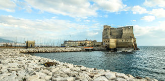 Château sur la mer à Naples Image stock