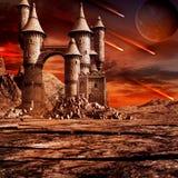 Château sur la terre en friche Photographie stock