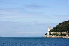 Château sur le bord Photo stock