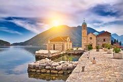 Château sur le lac dans Monténégro Image libre de droits