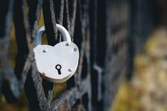 Château sur le symbole de barrière de l'amour Photos libres de droits