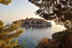 Château sur une île Photo stock