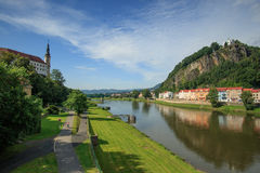 Château Tchèque de Decin photographie stock