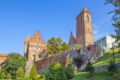 Château Teutonic dans Kwidzyn, Pologne photo libre de droits
