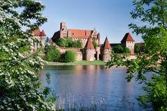 Château Teutonic dans Malbork Images libres de droits