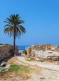 Château vénitien intérieur de Kyrenia (16ème c ), la Chypre du nord Photo stock
