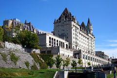 Château van Fairmont meer laurier in Ottawa, Canada stock foto