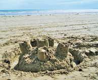 Châteaux dans le sable Photographie stock