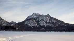 Châteaux Neuschwanstein et Hohenschwangau au coucher du soleil banque de vidéos