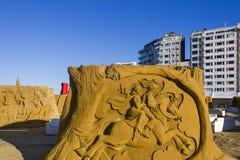 Châteaux orientés de sable d'OSTENDE, BELGIQUE, Images libres de droits