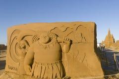 Châteaux orientés de sable d'OSTENDE, BELGIQUE, Photographie stock