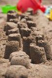 Châteaux sur le sable Photographie stock