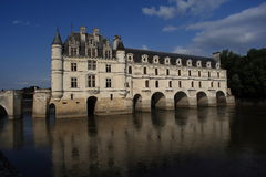 The Château de Chenonceau, situated on the Cher River Royalty Free Stock Photo