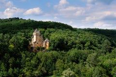Château DE Laussel in Périgord Noir royalty-vrije stock fotografie
