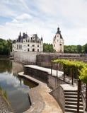 Château dechenonceau cotA©卢瓦尔河vallley 免版税库存图片