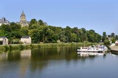 Château-Gontier in Frankreich Stockbild