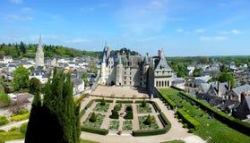 Châteauen de Langeais, Loire Valley, Frankrike arkivfoton