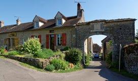 Châteauneuf en Auxois入口 免版税图库摄影