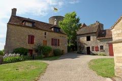 Châteauneuf en Auxois城堡  库存图片