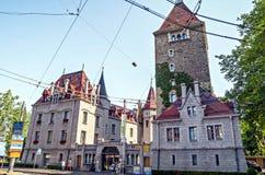 Château d'Ouchy στη Λωζάνη Στοκ εικόνες με δικαίωμα ελεύθερης χρήσης