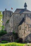 Château de Bricquebec, Normandie, Frankreich Lizenzfreies Stockbild
