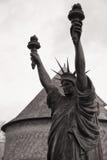 Château de Vascoeuil Victoire Statue av frihet Arkivfoton