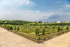 Château de Villandry, Francia Jardín ornamental escénico Imagenes de archivo