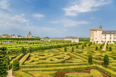 Château de Villandry, Francia jardines ornamentales Fotos de archivo libres de regalías
