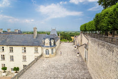 Château de Villandry, Francia Vea la terraza y el edificio principal del belvedere Fotos de archivo libres de regalías