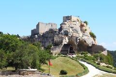 Château DES Baux und ein Bélier, Frankreich Stockfoto