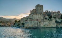 Château kungliga de Collioure Fotografering för Bildbyråer